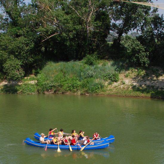 In canoa sull'Obrone